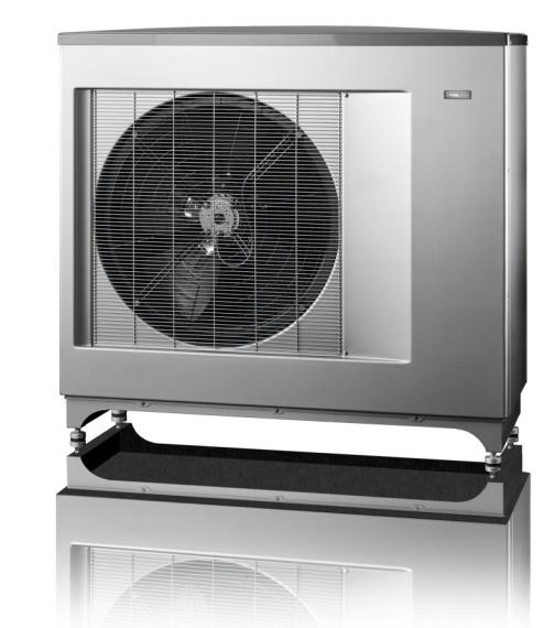 Теплова помпа «NIBE», яка застосовується для відбору тепла з атмосферного повітря